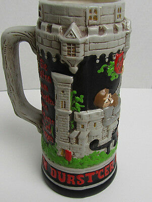 Holland Mold Ceramic Beer Stein Drinking Castle Theme Colorful Authentic VTG