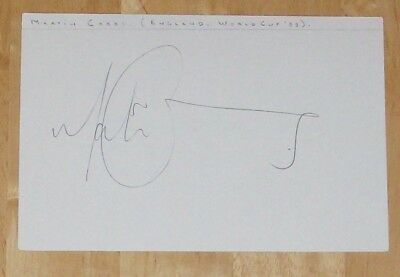 Martin Corry England Rugby Personally Signed Autograph Index Card