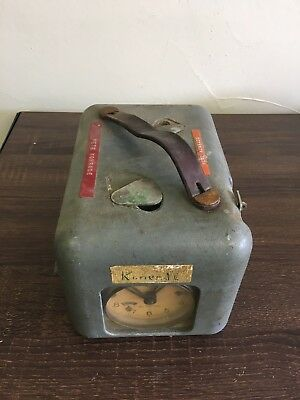 Antique Vintage STB Pigeon Racing Clock Swiss Made Winding Timer Untested