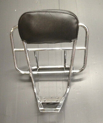 Rear back carrier rack 2 way chrome for Vespa by Cuppini