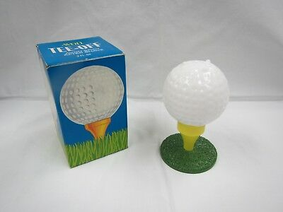 "Vintage Avon For Men Golf Ball On A Tee 4"" With Box Spicy After Shave Empty"