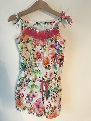 Next Girls Age 4 Summer Playsuit 3-4 Years Tropical Flower Print