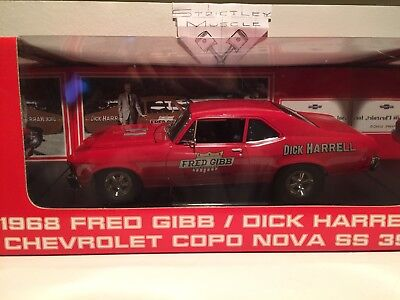 1/18 scale 1968 Chevrolet Nova COPO SS-396 Fred Gibb/Dick Harrell-red ext#8026