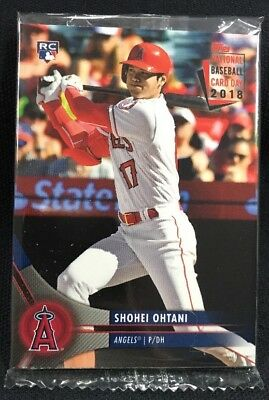 2018 Topps National Baseball Card Day Pack Shohei Ohtani Rc Factory Sealed