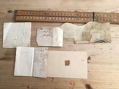 Small Lot Of Antique Embossed Revenue Stamps, 1799 - 1830s, Antique Stamps