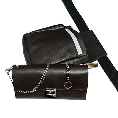 Real Leather Server Set 4tlg Wallet Waiter Case Holster Wallet Belt Bag
