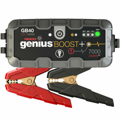 NOCO GB40 Genius Boost, 12V 1000A, Smart Jump Starter With Power Pack Bundle