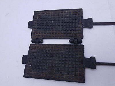 Antique pizzelle French Cookie Waffle Press Cast Iron krumkokie Galette Belgi
