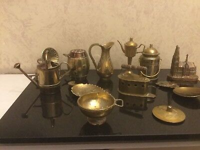 Joblot Vintage Miniature Collection Of Brass Ornaments