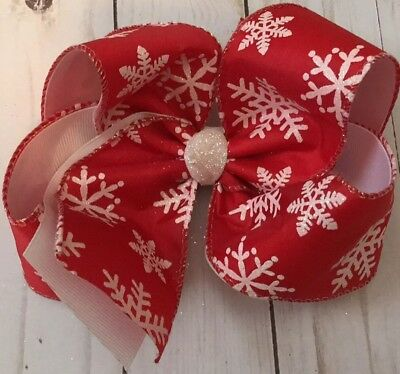 TaylorMade Custom Winter Christmas Red hair bow XL
