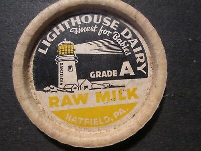 Milk Bottle Cap Lighthouse Dairy Hatfield Pa