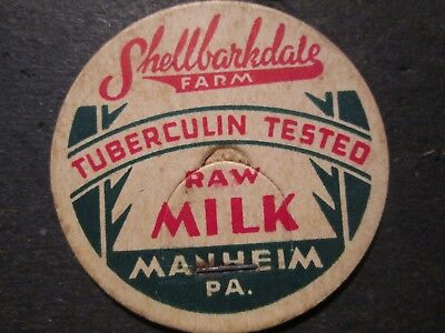 Milk Bottle Cap Shellbarkdale Farm Dairy Manheim Pa
