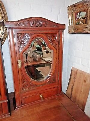 French Antiquity Art Deco Pharmacy Wall Cabinet