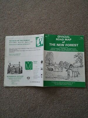 Official Road Map of the New Forest Official Map vintage