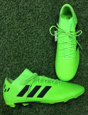 b1bad9e6bf64 Adidas Men s NEMEZIZ MESSI 18.3 FIRM GROUND CLEATS Green Black - DB2113