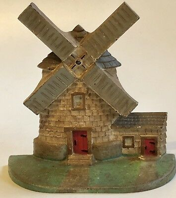 Antique National Foundry #10 Cast Iron Windmill Door Stop
