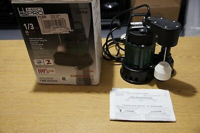 New H2O PRO Zoeller 1/3 HP Cast Iron Submersible Sump Pump 024488 45 GPM 170 LPM