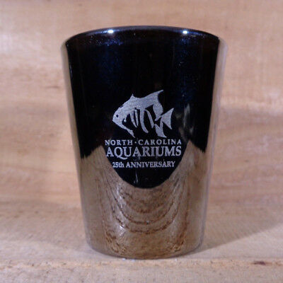 "NORTH CAROLINA AQUARIUMS 25th. ANNIVERSARY ""Shot Glass"" orig."