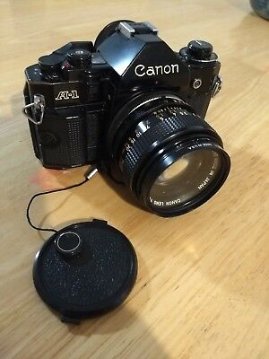 Canon A-1 35mm SLR Film Camera with 50mm lens