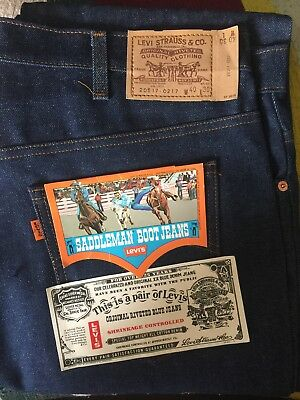 Vintage Levis 517 Orange Tab 40x30 Made In USA TAGS Saddleman Jeans Retro