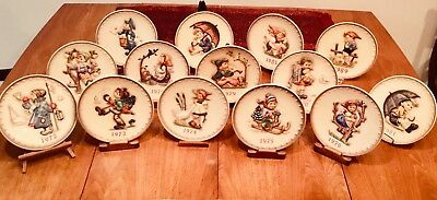 M.J.Hummel Lot of 14 Annual Collector Plates 1972-1983, 1985, 1989