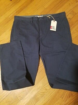 Vans chino excerpt pants Navy 38 Waist mens off the wall