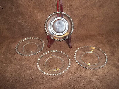 4 Candlewick Crystal Small Saucers Or Plates Coasters 2