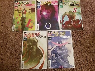 Dc Rebirth Suicide squad lot 35 36 37 38 39 Andrea Sorrentino variant Near mint