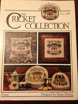 The Cricket Collection , Home ,,Cross Stitch Chart,