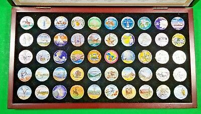 50 Colorized Statehood Quarters 1999-2008 - Boxed Set - Great Gift Idea!