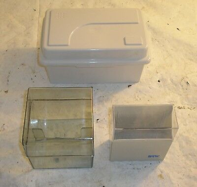 "Lot of 3 Disc Diskette 3.5"" Cases Holders"