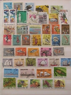 Singapur stamp collection on 2 pages