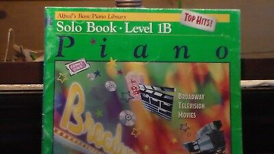 Alfred's Piano Music Books Level 1B Lesson, Top Hits Solo