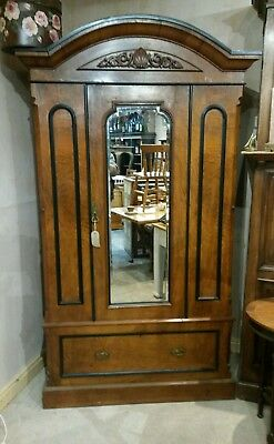 antique walnut mirrored wardrobe UK delivery available