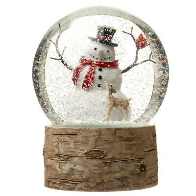 Large Traditional Christmas Snow Globe with Snowman Heaven Sends