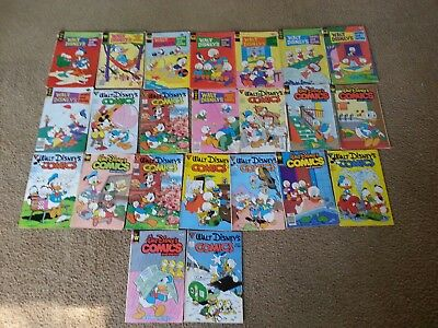 Lot of 23 Walt Disney Comics and Stories, 1970's and 80's, Good condition!