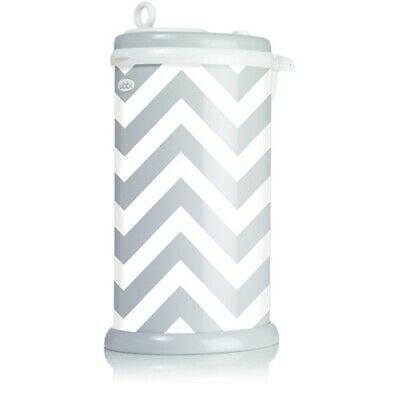 Ubbi Diaper Pail Nappy Bin Grey/Chevron