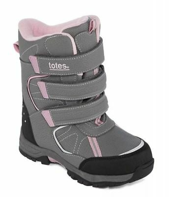 302203134ee88 Totes Youth Girls Harper Winter Snow Boots NIB Gray Pink Size 2 or 5