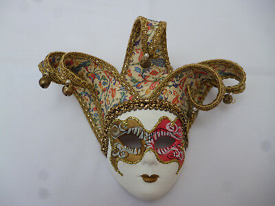large colorfull venetion wall mask very glitzy