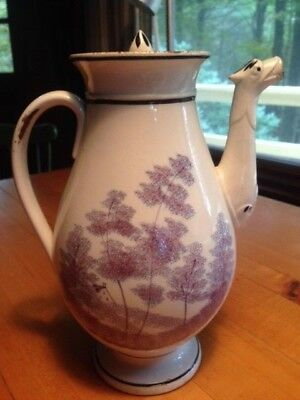 Antique French soft paste coffee pot ca. 1810