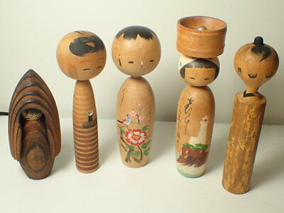 5 pieces traditional and modern style kokeshi (mny130)