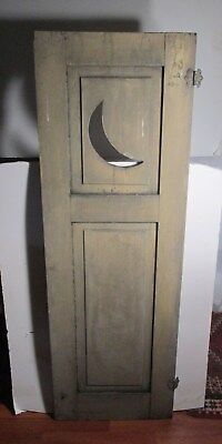 ANTIQUE ARCHITECTURAL SALVAGE White Shabby Chippy Cabinet Door Half Moon Deco.