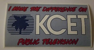 I make the Difference on KCET Public TV new sticker very rare collectible 90s