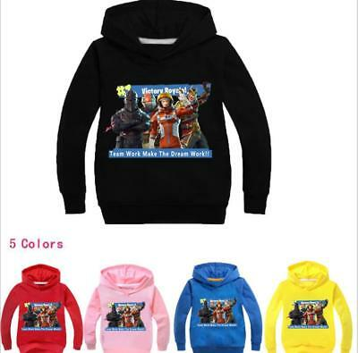 Fortnite Victory Royale Kids Hoodies Girls Boys Sweatshirt Clothing 2-11Years