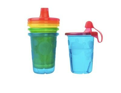 The First Years Take & Toss Spill-Proof Sippy Cups, 10 Ounce, 4 Cups