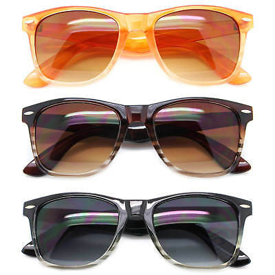 Men Women Classic Square Sunglasses Multi-Color Lens Retro Frame Fashion Shades