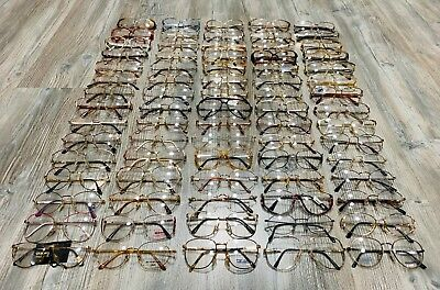 LOT OF 75 PAIRS OF RARE VINTAGE EYEWEAR GLASSES NEW OLD STOCK 1970's - 1980's