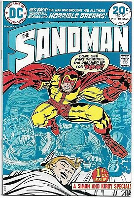 The Sandman #1 ~ Winter Issue ~ Signed by Jack Kirby ~ DC Comics 1974