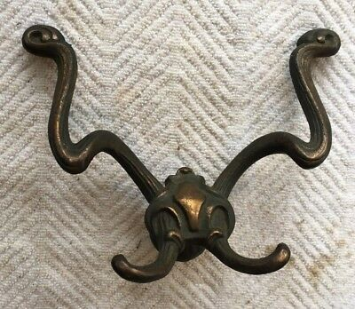 1 Antique Victorian Vintage Fancy Hall Tree Coat Rack Hat Hooks Eastlake