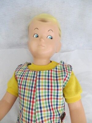 """Buster Brown Boy Mannequin Shoe Store Display, Old King Cole, Inc. Plastic 32"""""""